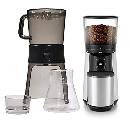 OXO Cold Brew Coffee Maker Bundle with OXO Brew Conical Burr Coffee Grinder...