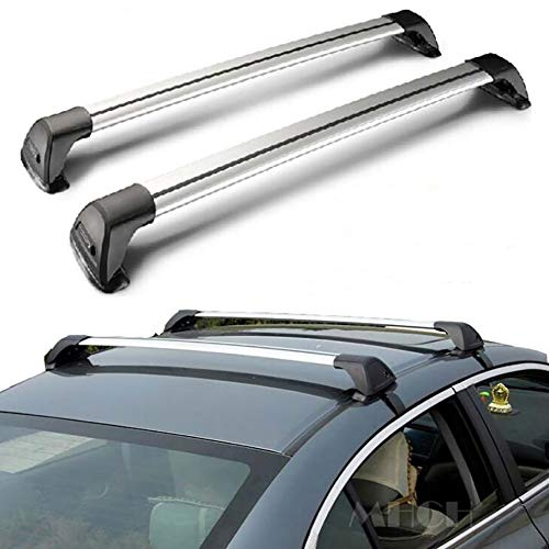 ANJING Anti-Theft Roof Rack Universal Cross Bars, Aluminum Multifunction Vehicle Cargo Baskets for Most Cars SUV,B