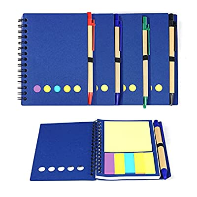 Kisdo 4 Packs Lined Spiral Notebook Kraft Paper...