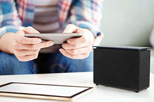 MEDION X61083 WLAN-Multiroom Lautsprecher mit 10 W RMS Ausgangsleisung, Internetradio via App und DLNA kompatibel