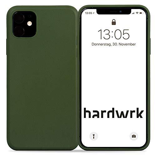 hardwrk Premium Eco Case - kompatibel mit Apple iPhone 11 - grün - Nachhaltige, kompostierbare, biologisch abbaubare Schutzhülle Handyhülle Cover Hülle - Qi kabellos Laden