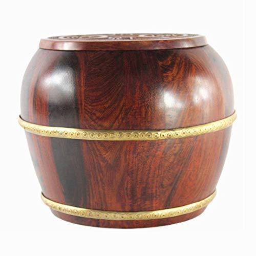 Seau à Riz Cylindre à Riz Boîte de Stockage du Riz Baril Domestique à l'épreuve des Insectes et de l'humidité Boîtes Alimentaires (Color : Brown, Size : 16 * 16 * 14cm/6 * 6 * 5inch)