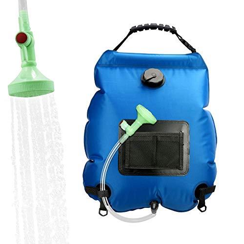 ASANMU 20L Solar Shower Bag, Camping Shower Bag Outdoor Solar Heating...