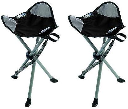 Folding Tripod Camping Stool TravelChair Slacker Chair Super Compact