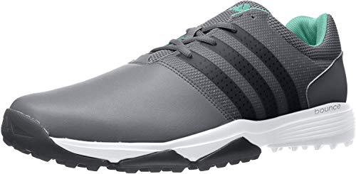 adidas Men's 360 Traxion Golf Shoe, GREY FOUR/CORE BLACK/HI-RES GREEN, 11.5 M US