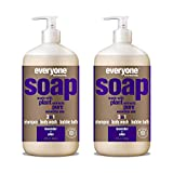 Everyone 3-in-1 Soap: Shampoo, Body Wash, and Bubble Bath, Lavender...