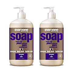 Contains 2 - 32 Fl Oz bottles The relaxing scent of lavender is blended with refreshing aloe pure essential oil in this skin-nourishing soap that works great as a body wash, shampoo, and bubble bath Made with gentle coconut cleansers, organic plant e...