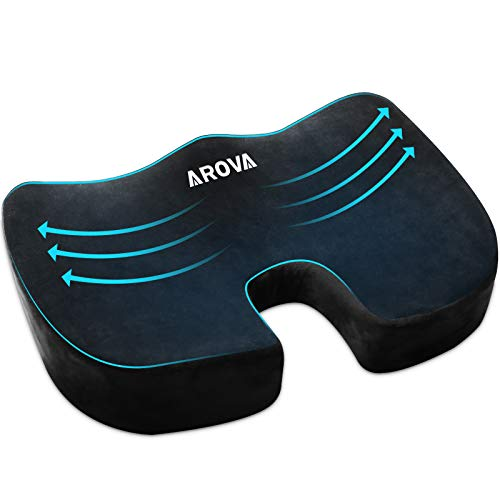 Seat Cushion,Comfortable Office Chair Cushion for Butt,Tailbone Pain Relief Cushion for Sciatica/Back Pain/Pressure Relief, Premium Memory Foam Seat Cushion for Office Chair/Car Seat/Wheelchair