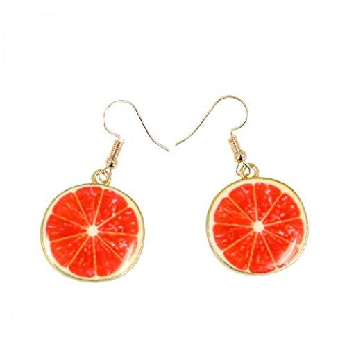 1pair Früchte Ohrringe Frucht-ohr-bolzen Lustige Nette Ohrringe Grapefruit-tropfen Baumeln Frauen
