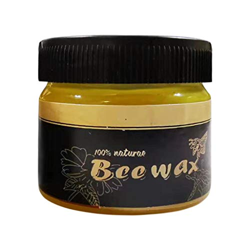Beewax Möbelpflege Bienenwachs, Poliermittel für Holz und Möbel, Natürliche Holzpflege Bienenwachs, Möbelwachs farblos, Wasserdicht Abriebfest (85g)
