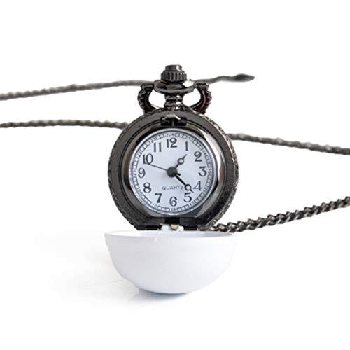 MEIEI Reloj de Bolsillo de Cuarzo, Reloj de Bolsillo para niños Elfos para Mascotas Bebé Digital Inyección de Combustible Collar de Cuarzo Reloj de Bolsillo con Estuche - Aniversario