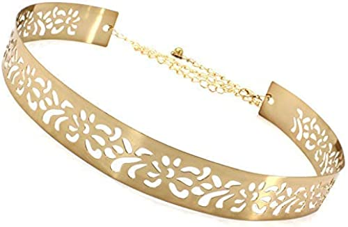Female Kamar Bandh For Women Kamarpatta Waist Chain For Women Free Size Golden Color For Casual Dress And Special Occasions