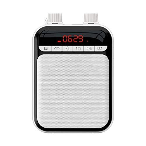 brightsen Amplificador De Voz Sistema De Audio Portátil con Micrófono con Cable Y Altavoz En La Cintura Amplificador De Sonido Fuerte Y Claro para Aulas, Reuniones Y Al Aire Libre