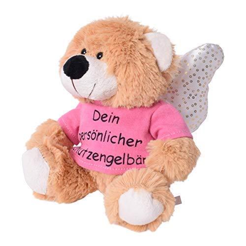 TE-Trend Anhänger Plüsch Schutzengelbär mit Flügel Spruchshirt