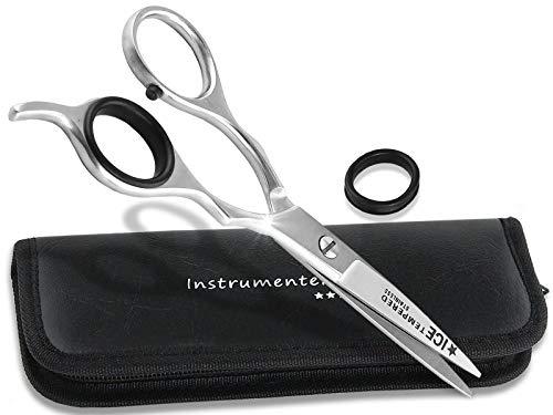 Premium Friseurschere Haarschere mit Mikroverzahnung InstrumenteNRW oder Solingen mit Aufbewahrungs-Etui (Nr.3 = 5,5 Zoll 1 x Mikroverzahnt)