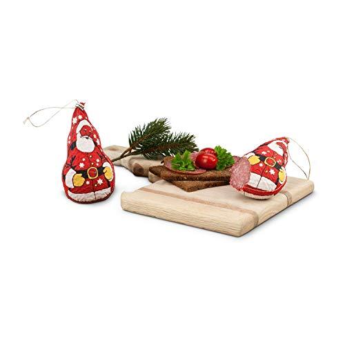 Römer Präsente Weihnachtsmannsalami: ca. 300 g herzhafte Schweine-Salami aus deutscher Produktion in Form eines Weihnachtsmannes (ca. 12 x 5.5. x 5.5.cm)