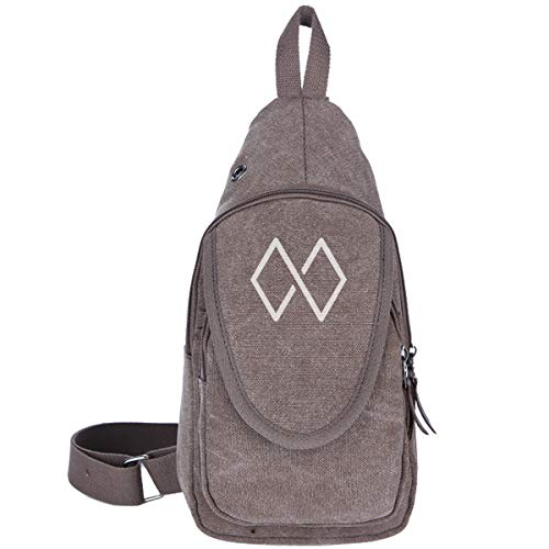 Michael W Smith Sling Bag Crossbody Backpack Canvas Daypack Casual Shoulder Bag Traveling Hiking Camping For Men And Women