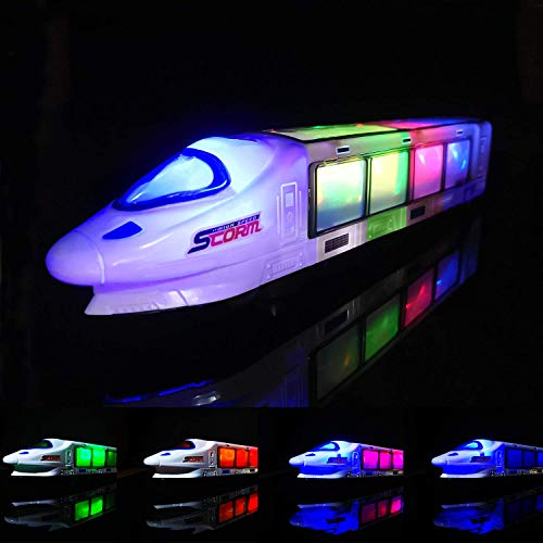 FUGZ Train Toys, Beautiful 3D Lightning Electric Train, Creative Gifts for 3-8 Year Old Boys Girls Gifts ...
