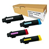 Toner Tap for Xerox Phaser 6510, Xerox WorkCentre 6515 Compatible Toner Replacement High Yield (4 Pack, KCMY)