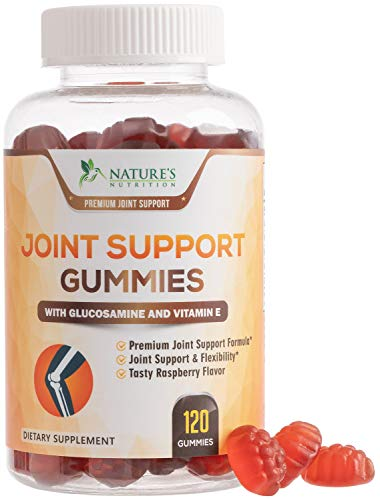 Joint Support Gummies Extra Strength Glucosamine & Vitamin E - Natural Joint & Flexibility Support - Best Cartilage & Immune Health Support Supplement for Men and Women - 120 Gummies