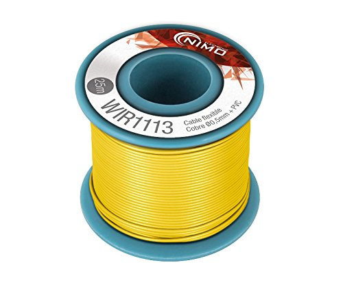 Nimo Bobina Cable Flexible Amarillo Cobre 0,05mm 25m