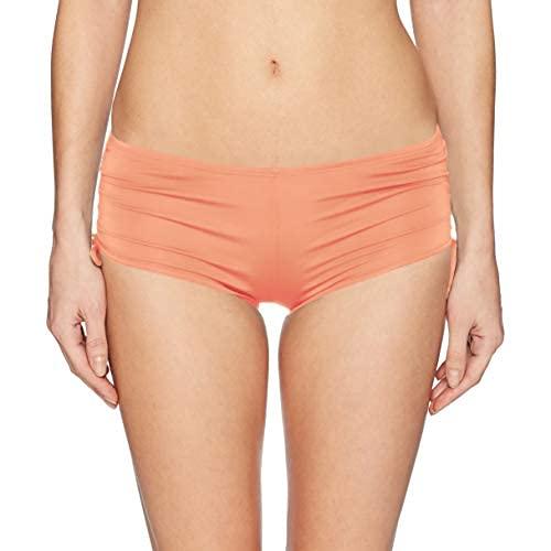 Hobie Junior's Hot Pant Bikini Bottom, Coral Reef//Solids, X-Small