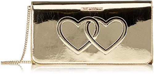 Love Moschino Borsa Metal Pu Platino, Sacs bandoulière femme - Or (Gold ), 13x26x5 cm (B x H x T)