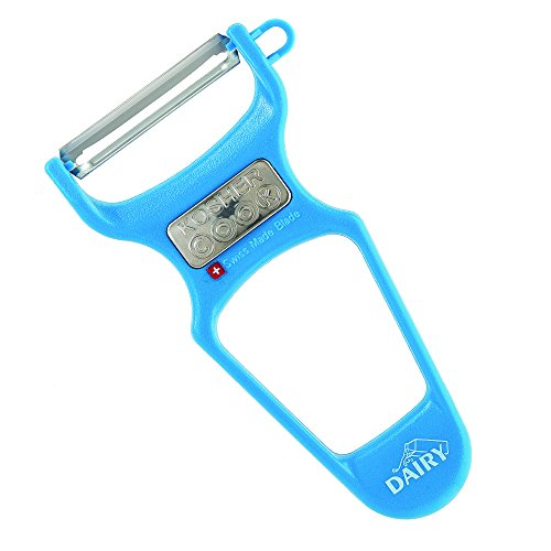 Dairy Blue Y Vegetable Peeler - Heavy Duty, Ultra Sharp Stainless Steel Swiss Blade, Ergonomic Plastic Handle - Color Coded Kitchen Tools by The Kosher Cook