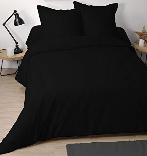 Eminza Funda nórdica (260 cm) Cómodo Negro
