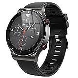 Orologio sportivo da uomo, con schermo intero, Bluetooth, per chiamate, cardiofrequenzimetro, IP67, impermeabile, per uomo, colore: nero