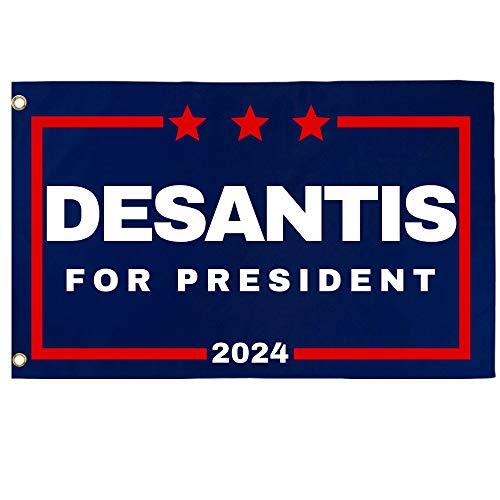 Desantis '24 Flag | 3'X5' Ron Desantis for President 2024 Flag with Grommets