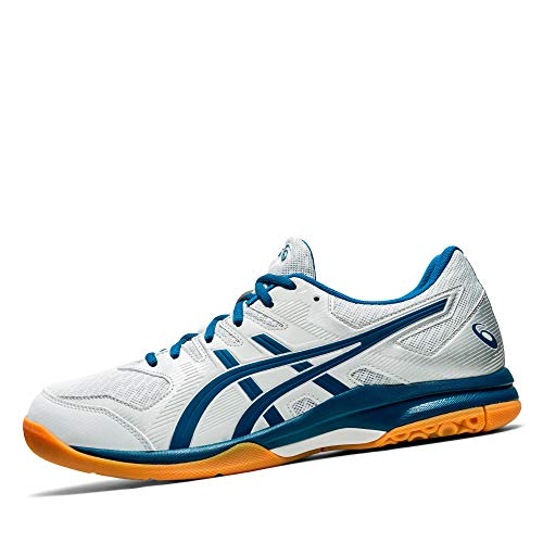 ASICS Mens Gel-Rocket 9 Volleyball Shoe, Glacier Grey/Mako Blue,42.5 EU