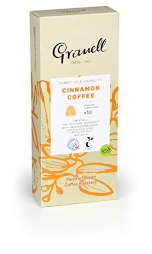 Granell - Aromas - Espresso Canela | Capsulas Compatibles Nespresso 100% Café Arabica - 10 Cápsulas de Café Compostables