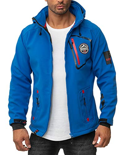 Geographical Norway Chaqueta Softshell para hombre. azul M