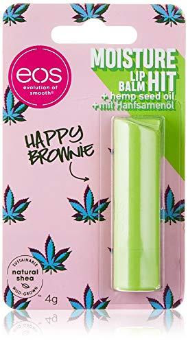 eos Happy Brownie Lip Balm Stick, Pflegestift für weiche Lippen, feuchtigkeitsspendende Lippenpflege mit Shea & Hanf, Kokosnuss & Kakao, 4 g 2040461