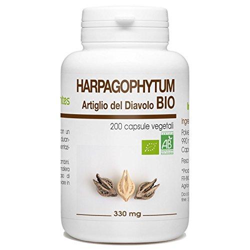 Artiglio del Diavolo Bio - Harpagophytum procumbens - 330mg - 200 capsule vegetali