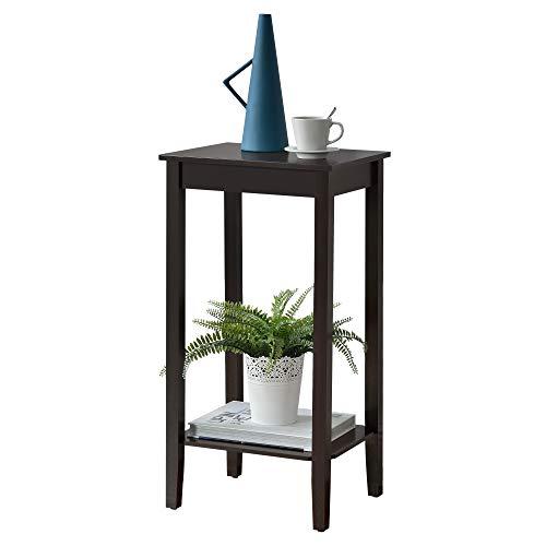 [en.casa] Beistelltisch mit Ablage Sofatisch Telefontisch Kaffeetisch 74x38x30 cm MDF Kaffeefarben