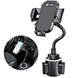 [Upgraded] andobil Cup Holder Phone Mount, Adjustable Long Neck Cup Phone Holder for Car Universal Never Shake Cup Holder Phone Holder Compatible with iPhone 12 11 Pro X Xs Max 8 Plus Samsung S21 S20