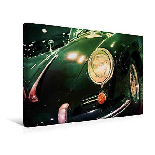 CALVENDO Premium Textil-Leinwand 45 cm x 30 cm quer, Oldtimer aus Deutschland | Wandbild, Bild auf Keilrahmen, Fertigbild auf echter Leinwand, Leinwanddruck: Porsche 356 1964 Mobilitaet Mobilitaet