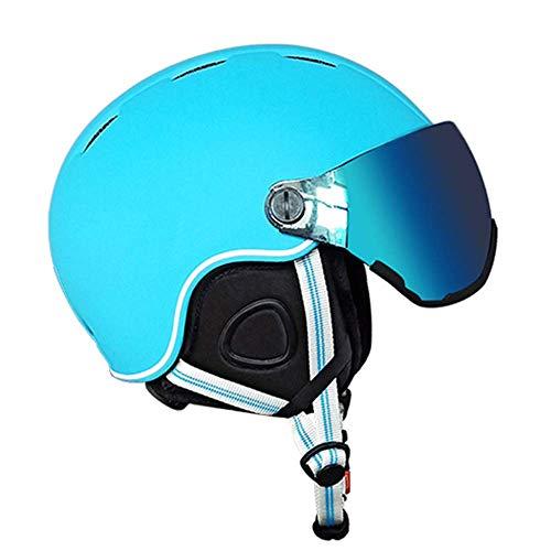 Skihelm, 2 in 1 Winterhelm voor heren en vrouwen met bril Verstelbare hoofdomtrek voor kinderen en tieners Skate Helmen voor outdoor Sports sudaijins
