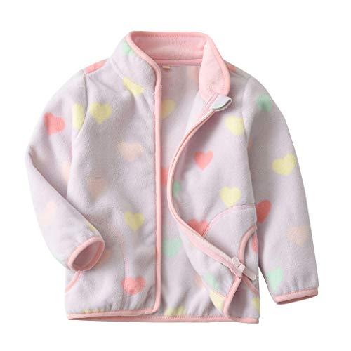 Minizone meisjes fleece vest baby gilets met ritssluiting mouwloos jack warm top 1-4 jaar