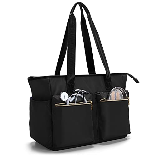 Damero Nurse Bag for Work Supplies, Medical Bags with Laptop Sleeve for Home Care Nurse, Medical Students and More, Black