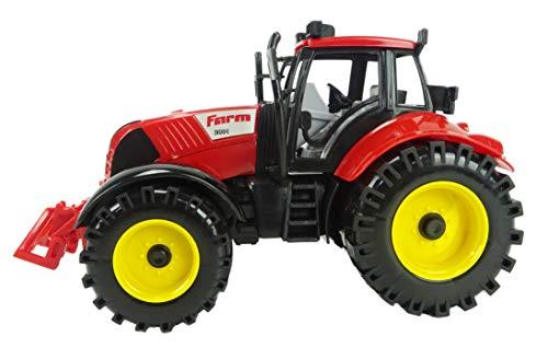 Tracteur de ferme rouge alimenté de Friction de 22 x 12 cm avec ouverture de Bonnet (HL64)