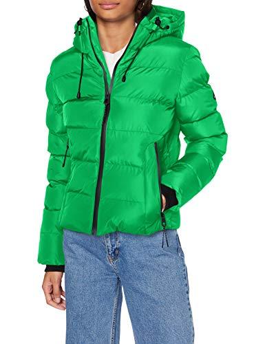 Superdry Spirit Sports Puffer chaqueta, Verde brillante, S (Talla del fabricante:10) para Mujer