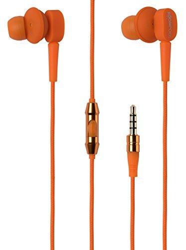 Boompods EPAORA In-Ear Kopfhörer mit Mikrofon und Fernbedienungstaste(n)staste, orange