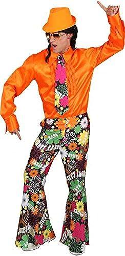 exclusivo 70er equipo camisa camisa camisa años + pantalón + corbata - flores  alta calidad