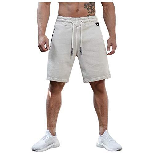 Bascar - Pijama corto para hombre, pijama corto, pijama corto, pijama para tiempo libre, sudadera, pantalón para hombre, verano, suave, cómodo de secado rápido