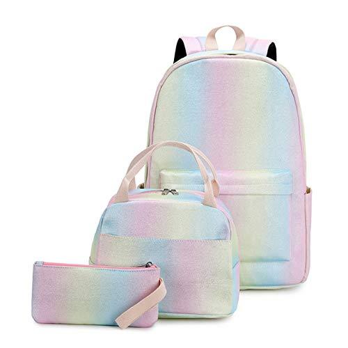 New 2021 Backpacks School Bag Children Schoolbags,Girls Primary School Book Bag School Bags Printing Backpack 3 Pcs Set