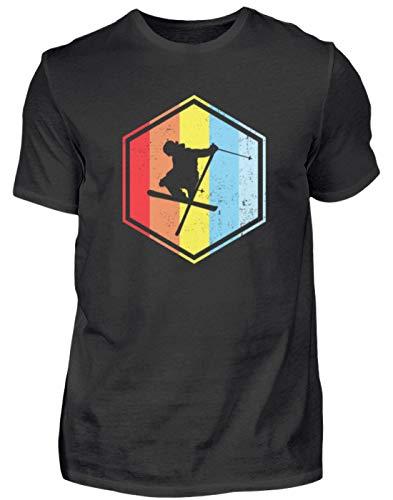 Vintage Skifahrer Ski Geschenk - Herren Shirt -S-Schwarz