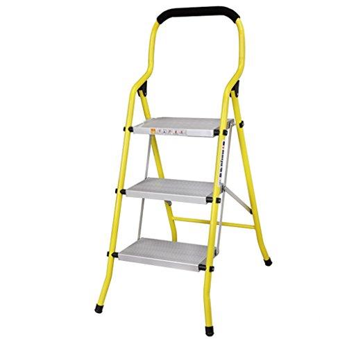 LRZLZY Folding Aluminiumlegierung multifunktionales Fischgrät-Ladder verdickten Haushaltsleiter Geländer DREI, Vier und fünf Schritte Stabilität und Sicherheit